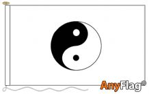 YIN YANG WHITE  ANYFLAG RANGE - VARIOUS SIZES
